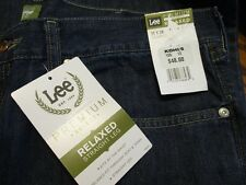Lee 100% Cotton Relaxed Fit TALL 36 x 36 Dark Rinse Blue Jeans SR$48 NEW