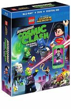 LEGO DC :JUSTICE LEAGUE COSMIC CLASH (+figurine)-  Blu Ray - Sealed Region free