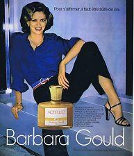 PUBLICITE ADVERTISING 025 1977 BARBARA GOULD actifluid