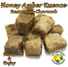 Honey Amber Essence Resin with Charcoal Incense