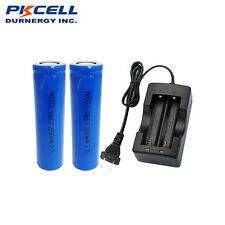 118650 x2 Rechargeable Lithium Ion Vape Batteries Flat Top and Charger W/O PCB