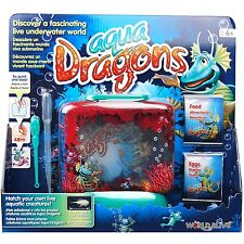 Aqua Dragons Sea Monkeys Underwater World Boxed Kit Brine Shrimp Food Eggs