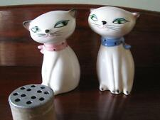 HOLT HOWARD SIAMESE COZY CAT PORCELAIN SHAKERS 1958 AS IS No Meow or Plugs