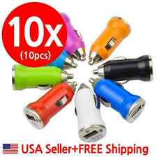 10pcs USB Car Charger Adapter(5V 1000mA)iPhone 4,5,6,GalaxyS3,S4,S5(White Color)
