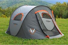 Pop Up Camping Tent 2 Person Waterproof Ground Tarp Camp Gear Hiking Easy Setup