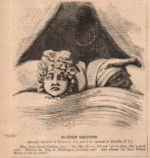 1862 Harpers Weekly Print - Mrs Jefferson Davis was promised the White house