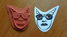 ZETTIOLOGY Teesha Moore ZETTI GIRL W THE TWO POINTY POINTS! UNMOUNT RUBBER STAMP