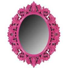 Hot Pink Victorian Mirror teenage girly room decor baroque-style design