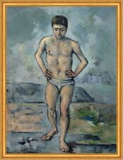 The Bather paul cezanne hombres bañador Baden rocas pradera playa B a1 02973