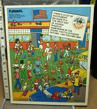 WHERE'S WALDO frame tray First Day of School wooden puzzle 1991 Handford
