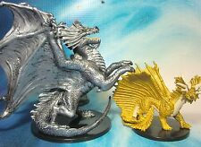 Dungeons & Dragons Miniatures  Large Gold Dragon Aspect of Bahamut !!  s101