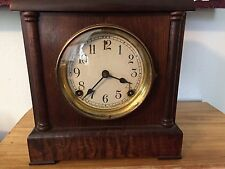 "Antique Sessions 8 day Mantle Clock ""WORKS"" has a wonderful sound to it."