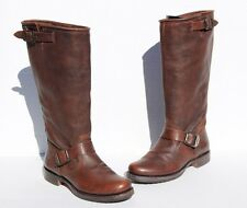 Frye Veronica Slouch Tall Brown Leather Boots Size 7 B