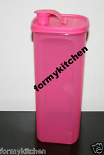 Tupperware Slim Line Pitcher Fridge Bottle Pink 2L New!!