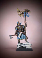 BLOOD RAGE Painted RAVEN CLAN VIKING Standard Bearer miniature by CMON