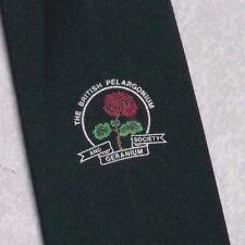 I britannici Pelargonium & GERANIO società Tie retrò vintage verde anni'80 Club