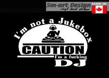IM A FUKCING Dee Jay DJ Vinyl Decal Die cut sticker LAPTOP rack hard cases bag