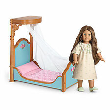 """American Girl CECILE HALF CANOPY BED & BEDDING for 18"""" Doll Furniture Retired"""