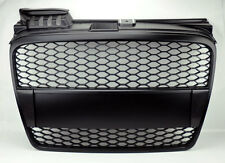 Audi A4 06-08 B7 RS Style Matte Black Mesh Front Hood Bumper Grill