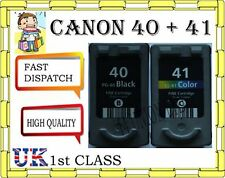 REMANUFACTURED Canon 40 and 41 Twinpack PG-40 AND CL-41 INK CARTRIDGES FOR CANON