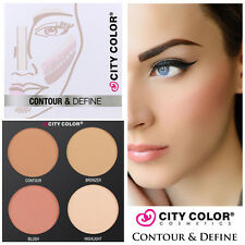 City Color Contour & Define Palette Contouring Kit Bronzer Blush Highlighter NEW