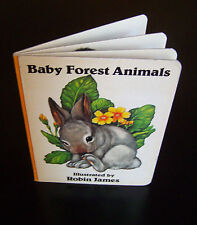 Vintage Children's Board Book Baby Forest Animals Robin James of Serendipity