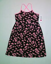 NEW Total Girl Sleeveless Dress Girl Size Large 14 Watermelon Black/Pink