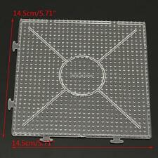 14.5X14.5cm Pegboards for Perler Bead Hama Fuse Beads.Clear Square Design Board