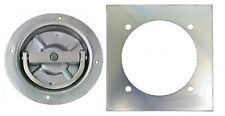 Recessed Full 360 Swivel 6000# Rated D Ring Tie Down with Backing Plate
