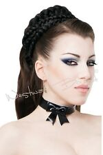 R1087 RUBBER Bow COLLAR M **BLACK**LATEX FETISH **MADE+DESIGNED IN UK**