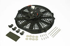 "12"" Stoney Racing 120W Electric Fan 12v Straight Universal Radiator Slim Cooling"