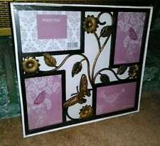 WALL HANGING COLLAGE PICTURE FRAME * BRAND NEW IN SHRINKWRAP! * HOLDS 4 PHOTOS!