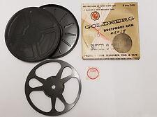 Vintage Goldberg Bros 8mm Film Reel & Dustproof Can Set 400 Ft NIB