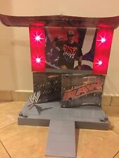 WWE RAW SUPERSTAR ENTRANCE STAGE PLAYSET With Lights And Music