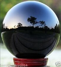 AAA+++ HOT Sell NATURAL OBSIDIAN POLISHED BLACK CRYSTAL SPHERE BALL 100mm+stand`