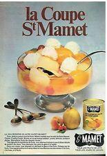 Publicité Advertising 1982 Les Fruits au Sirop St mamet