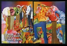 1970 Levi's fashion sta-prest slacks many colors illustrated vintage print ad