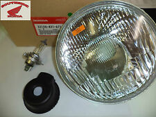 GENUINE HONDA HEADLIGHT UNIT WITH  HALOGEN BULB AND RUBBER COVER