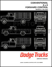 1967 Dodge Truck Shop Manual 67 Pickup Power Wagon Panel 100-800 Repair Service