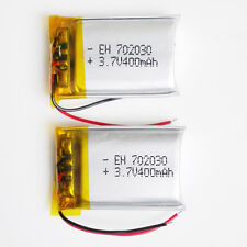 2 pcs 3.7V 400mAh 702030 Lipo Polymer ion Battery For MID DVD GPS mp3 bluetooth