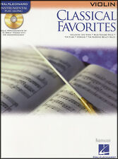 Violon classique favoris instrumental Play-Along partitions livre / CD