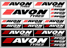 AVON Tyres decal set 18 quality printed and laminated stickers