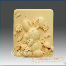 Bowknot Rabbit S118 Silicone Soap mold Craft Molds DIY Handmade soap mould