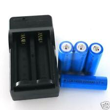 4x 2000mAh 14500 Rechargeable Li-ion Battery For LED Flashlight CR123A Charger