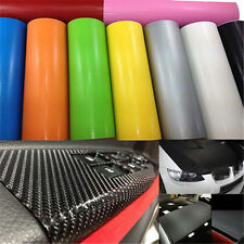 New 3D Black Carbon Fiber Vinyl Car Wrap Sheet Roll Film Sticker Decal 127x50cm