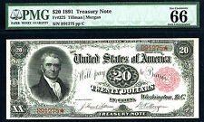1891, $20 FR-375 Treasury PMG 66 EPQ-Classic rarity-the key-BEST OF BEST