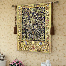 """William Morris Tree of Life Fine Art Tapestry Wall Hanging Small, Blue, 35""""x27"""""""