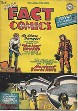 Real Fact Comics Comic Book #8, DC 2nd Tommy Tomorrow 1947 VERY GOOD+/FINE-