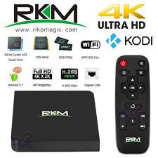 NEW RKM MK06 4K Android 5.1 64bit Cortex TV Media Box Streamer KODI H.265 WiFi