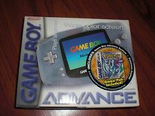 BRAND NEW Gameboy Advance System Console Pokemon Crystal Version Bundle Glacier!